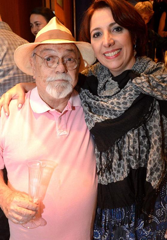 Antonio Pedro e sua filha Alice Borges